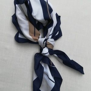 Vintage Accessories - Navy  Striped Scarf